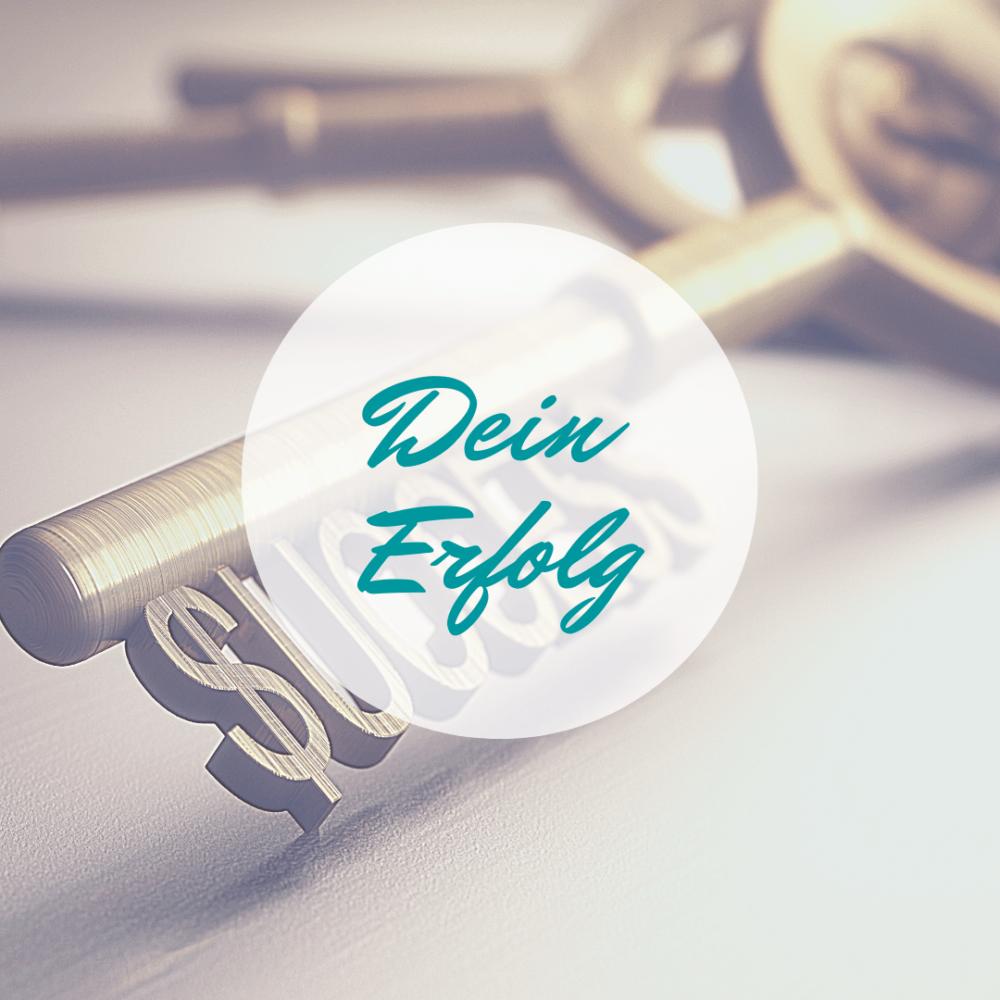 """Dein Erfolg - Schlüssel mit Schlüsselprofil als Wort """"Success"""""""